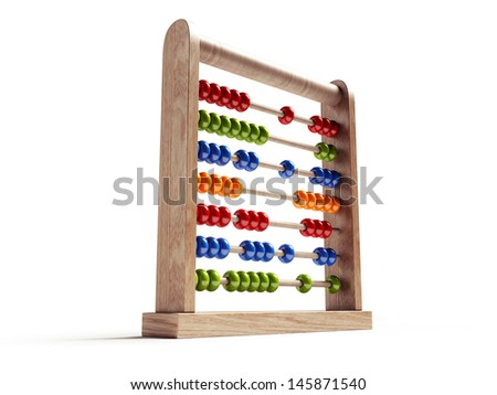 Abacus Isolated with Clipping Path