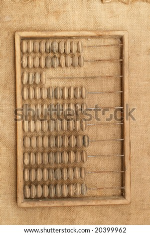 Abacus (old calculator) on a sacking