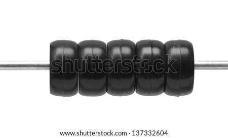 abacus on a white background - stock photo