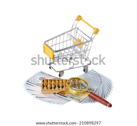 abacus on dollars with shopcart