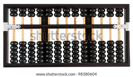 Abacus showing zero - stock photo
