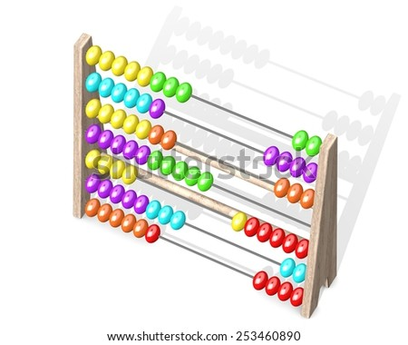 Abacus top view - stock photo