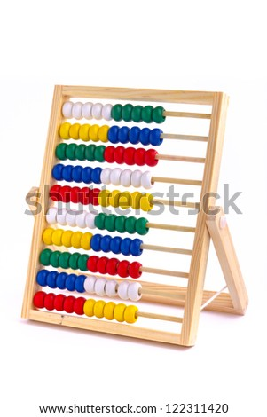 Abacus toy for child isolated on white background