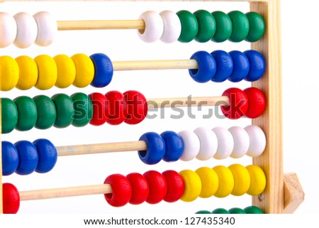 Abacus toy for child isolated on white background - stock photo