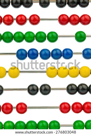 abacus with colored beads, symbolic photograph of finance, costing and accounting - stock photo
