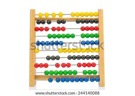 abacus with colorful beads, symbolic photo for finance, costing and accounting - stock photo