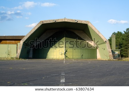 Abandoned aircraft hardened shelter