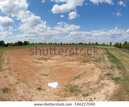 abandoned baseball field - stock photo