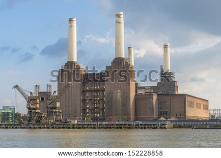 Abandoned Battersea Power Station, London, UK  - stock photo