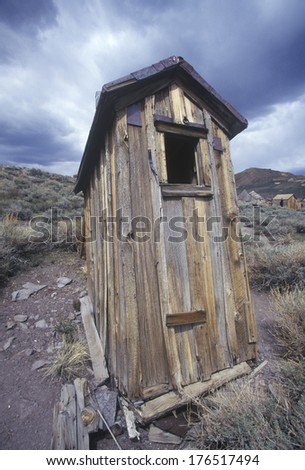 Abandoned building in Ghost town of Bodie, CA - stock photo