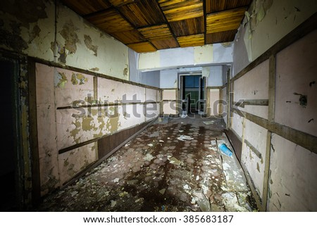 abandoned building ruins interior