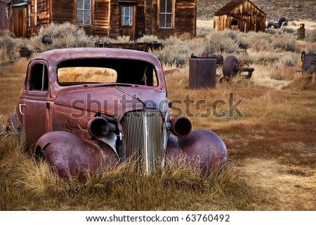 abandoned car bodie ghost town california