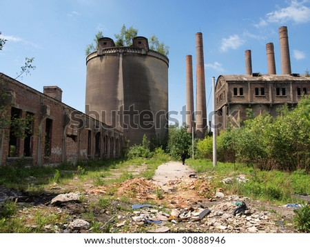 Abandoned cement plant in Poland.