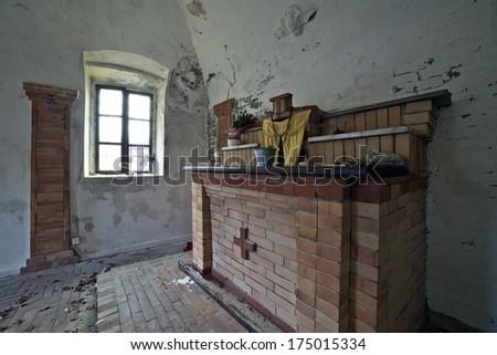 Abandoned church - stock photo