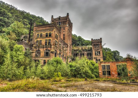 Abandoned coal mine building, HDR processing