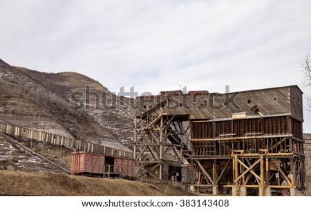 Abandoned Coal Mine in the Badlands Alberta