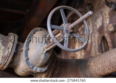 abandoned factory, factory ruins, old buildings, broken windows, Ostrava city, Czech republic  - stock photo