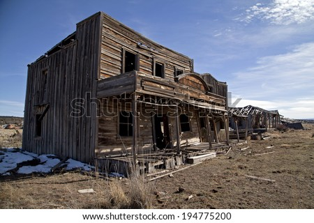Abandoned general store in the American Southwest