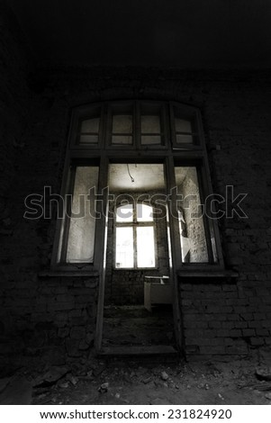 Abandoned grunge building  - stock photo