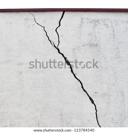 abandoned grunge cracked  stucco wall background - stock photo