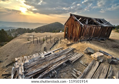 Abandoned House at Old Mine - stock photo