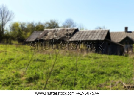 abandoned house , Defocus - stock photo