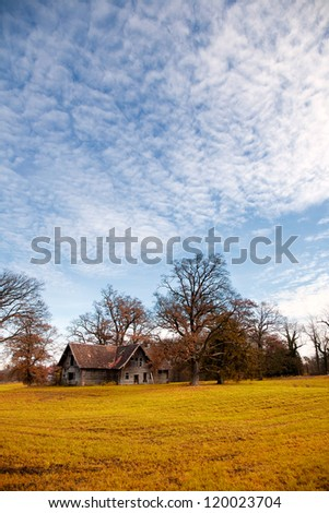 Abandoned house in a village near Munich, Germany - stock photo