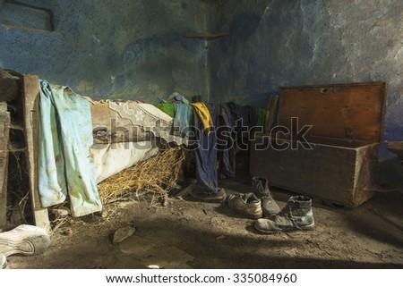 Abandoned house interior - stock photo