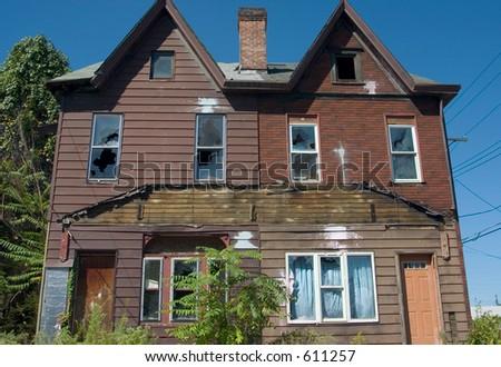 Abandoned housing. - stock photo