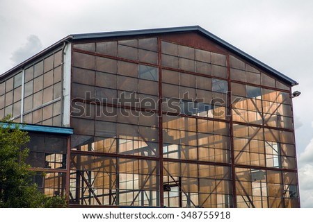 Abandoned Industrial Building. - stock photo