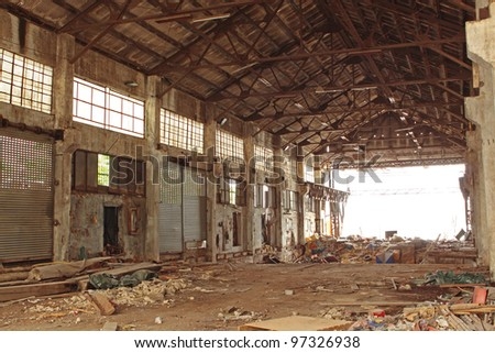 Abandoned Industrial Furnace - stock photo