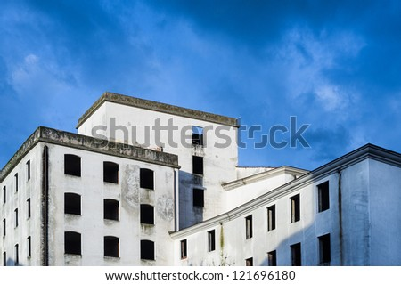 Abandoned italian factory - stock photo