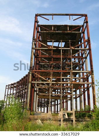 abandoned metal construction