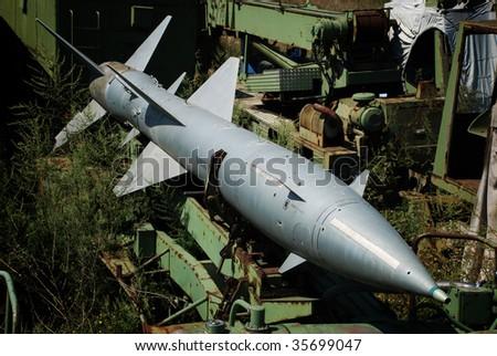 abandoned military missile - stock photo