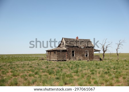 Abandoned old house in the countryside.