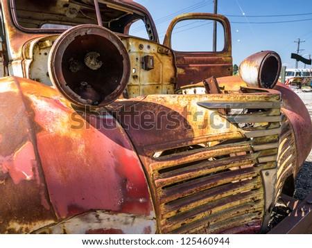 Abandoned Oldtimer - stock photo