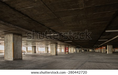 Abandoned parking lot - stock photo