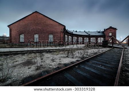 Abandoned Rail Yard - stock photo