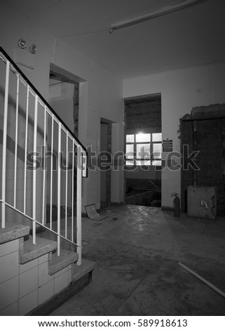 abandoned school. abandoned building