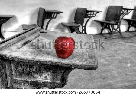 Abandoned School House one room Canada Saskatchewan - stock photo