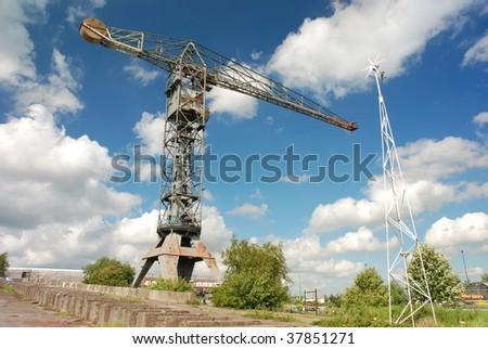 Abandoned shipyard in Amsterdam - stock photo