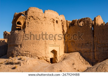 Abandoned village in the Isfahan province of Iran
