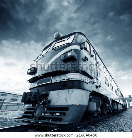 Abandoned vintage train, out of years of rusting. - stock photo