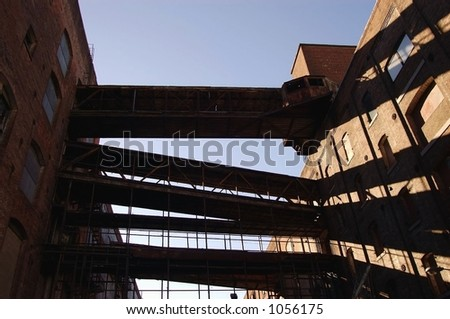 Abandoned warehouse - stock photo