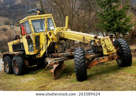 Abandonned bulldozer on a site