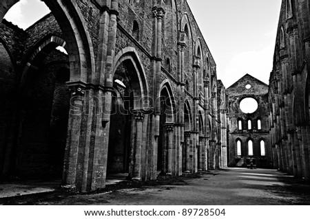 Abbey - stock photo