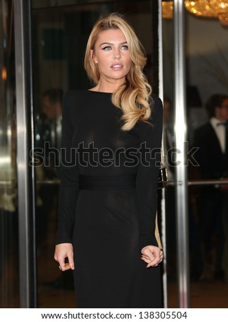 Abbey Clancy at the Ledley King Testimonial Gala dinner held at the London Hilton hotel, London. 07/05/2013
