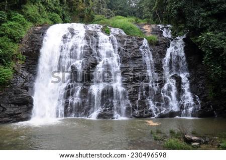 Abbey Falls in Kodagu, Karnataka, India. - stock photo