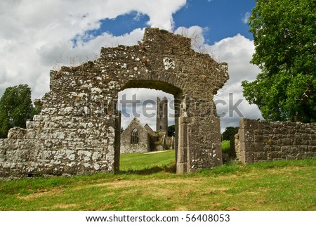Abbey in Adare - Ireland - stock photo