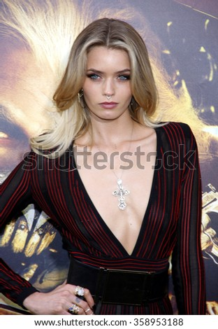 "Abbey Lee Kershaw at the Los Angeles premiere of ""Mad Max: Fury Road"" held at the TCL Chinese Theatre IMAX in Los Angeles, USA on May 7, 2015. - stock photo"